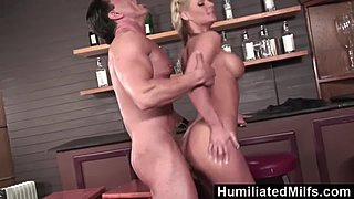HumiliatedMilfs - natural blonde mommy adores to get hands on her ace last straw of cum
