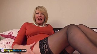 Old aged wife granny Amy one shot masturbation perverse cougar hosiery fitments porn hd xxx
